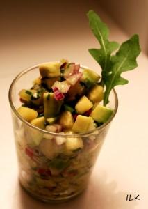 Ananas-avokado-salsa